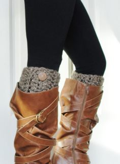 Crochet Boot Cuffs in by LilBumpkinsBoutique, $20.00