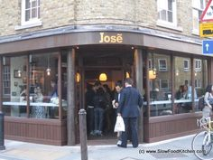 Jose Spanish Tapas Bar at 104 Bermondsey St. This place is tiny, you can't book and the locals queue to get in. Join the queue, it is better than Brindisia round the corner in Borough Market. Probably the best tapas bar outside of Seville.