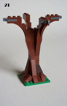 Lego Tree, Lego Village, Lego Simpsons, Lego Decorations, Brick Construction, Lego Boards, Lego Trains, Lego Castle, Cool Lego Creations