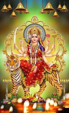 Lord Durga, Durga Ji, Saraswati Goddess, Shiva Shakti, Goddess Lakshmi, Indian Goddess, Shri Ganesh Images, Durga Images, Lakshmi Images