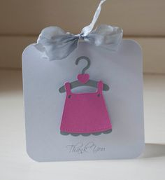 Baby GIrl Dress Infant Pink and Gray Thank You by CardinalBoutique, $92.00