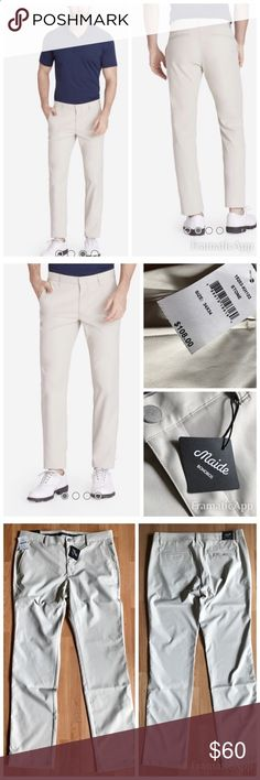 NWT Maide Bonobos Highland Golf Pants Size 34/34 NWT Highland Golf Pant in Khaki by Maide Golf Bonobos $108.00 size 34/34. Color: Stone A great-fitting golf pant that combines classic course style with performance features - 100% performance polyester - Unique scorecard print in pocket liner, grip insert in waistband to keep shirt tucked, contrast back pocket liners. - Adjustable zipper hem Bonobos Pants Chinos  Khakis