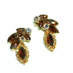 1950's Bronze and Gold Rhinestone Cocktail by LauraDarlingDeluxe, $12.50