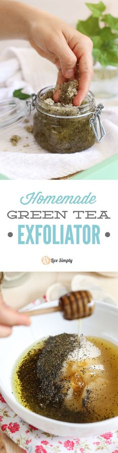 Naturally exfoliate your skin with this super easy 4 ingredient scrub. Made with ingredients from your kitchen to help rejuvenate the skin. http://livesimply.me/2015/07/03/diy-homemade-green-tea-exfoliator/