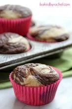 Banana Chocolate Marble Muffin Recipe from bakedbyrachel.com