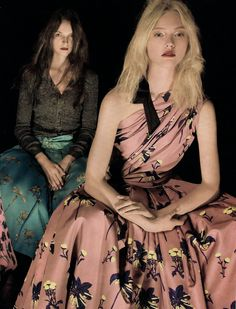 Sasha Pivovarova & Angelika Kocheva by Steven Meisel for Prada Resort 2008
