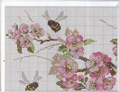 Схема вышивки сакура крестиком