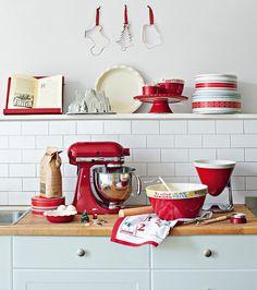 I& got the red kitchen aid. - I& got the red kitchen aid…. Red Kitchen Aid, Red Kitchen Decor, New Kitchen, Red Kitchen Accents, Neutral Kitchen, Kitchen Walls, Red Accents, Kitchen Stuff, Rustic Kitchen
