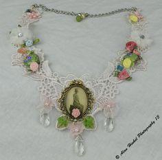 Venetian Lace statement necklace by Bridget Blue™  Limited Edition