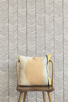 Motif nonwoven #wallpaper HERRINGBONE by @fermliving