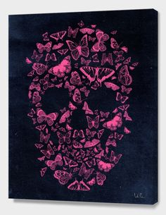 """Skull Butterfly"", Numbered Edition Canvas Print by Francisco Valle - From $69.00 - Curioos"