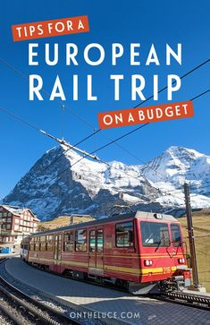 Tips for planning a train trip across Europe on a budget – from route planning… Tips for planning a train trip across Europe on a budget – from route planning to European rail passes, scenic trips to money-saving and packing tips ☆ Train Travel ☆ Europe Train Travel, Europe Travel Guide, Budget Travel, Travel Destinations, Travel Deals, Vacation Deals, Vacation Spots, Travel Guides, Backpacking Europe