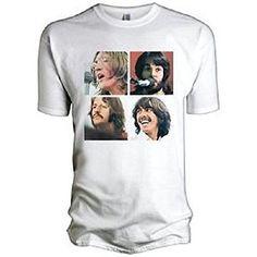 THE BEATLES - para fotos con diseño de cuadrados (let IT be) - para hombre T-camiseta de manga corta producto oficial de #camiseta #realidadaumentada #ideas #regalo