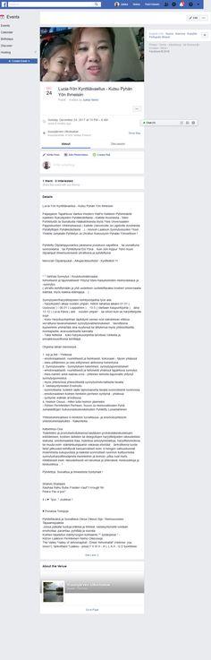 Screenshot: (4) Lucia-Yön Kynttilävaellus - Kutsu Pyhän Yön Ihmeisiin Let It Be, Facebook, Words, Horse