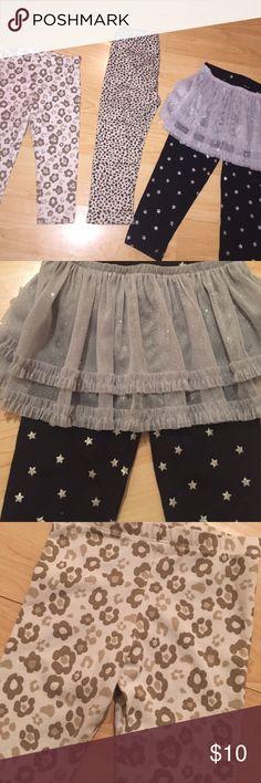 Tan/Black LOT of 18-24 M leggings Lot of leggings / 18 M / 24 M / floral print are Gymboree Gymboree Bottoms Casual