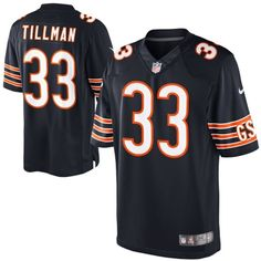 Nike Charles Tillman Chicago Bears Limited Jersey-Navy