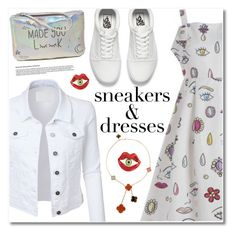 """Sneakers and dresses"" by fshionme ❤ liked on Polyvore featuring LE3NO, Hollister Co., Vans, Bernard Delettrez, Van Cleef & Arpels, vintage, festivalfashion and SNEAKERSANDDRESSES"
