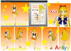 Sailor Venus papercraft by Antyyy.deviantart.com on @DeviantArt