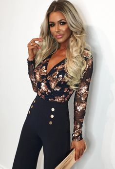 Gorgeously girly, check out our super sexy bodysuits at Pink Boutique! Our luxe lace and glitzy sequin bodysuits are absolute showstoppers! UK next day delivery. Sequin Bodysuit, Long Sleeve Bodysuit, Going Out Bodysuits, Pink Boutique Uk, Bodycon Midi Skirt, Sequin Sweater, Wide Leg Trousers, Fashion Looks