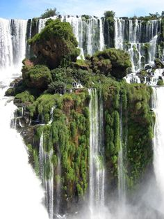 Waterfall Island - Alto Parana, Paraguay. Looks a lot like avatar.