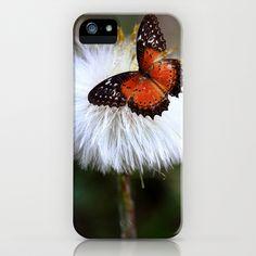 Dandelion and butterfly iPhone & iPod Case by Karl-Heinz Lüpke - $35.00