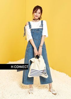 More of SNSD YoonA's pretty pictures from 'H:Connect' ~ Wonderful Generation ~ All About SNSD, Wonder Girls, and f(x) Snsd Fashion, Korean Fashion, Fashion Outfits, Fashion Drug, Japanese Fashion, Denim Jeans, Skinny Jeans, Yoona Snsd, Korean Street