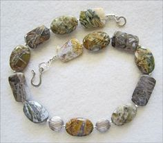 Stunning Silver Needle Agate Necklace - pinned by pin4etsy.com