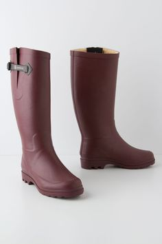 Shearling Rain Boots - Anthropologie.com