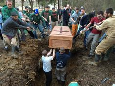Late last month Paul Coakley '02 passed into eternity, leaving behind his wife, Ann, and their four children (one still in the womb). Fr. Jon Reardon '03, who was in Brothers of the Eternal Song household with Paul, gave a beautiful homily at Paul's funeral Mass and then more brothers lowered Paul's casket into the ground. The moment was captured by another brother, Jason Pohlmeier '05.  Few images could probably capture the meaning of households as powerfully as this.