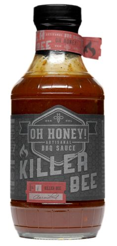 Oh Honey! Killer Bee BBQ Sauce is one of our absolute favorite sauces. This sauce blends Colorado Mountain Honey with a kick, making it a go to sauce for just about any BBQ recipe. On top of it's incredible flavor, this sauce is totally gluten-free! Barbecue Sauce, Bbq Sauces, Yum Yum Sauce, Wood Grill, Food Branding, Smoke Grill, Backyard Bbq, Bottle Design, Sauce Bottle