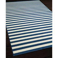 Safavieh Abstract Indoor Outdoor Courtyard Navy Beige Rug 67 X 96 By