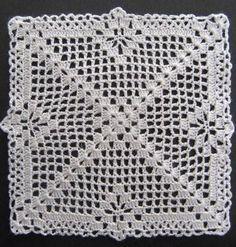 Miniature crochet square doily 6 cm, dollhouse crochet tablecloth, dollhouse miniature white small doily micro crochet by MiniGio Crochet Afghans, Basic Crochet Stitches, Afghan Crochet Patterns, Crochet Squares, Crochet Basics, Crochet Doilies, Crochet Lace, Crochet Hooks, Free Crochet