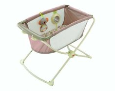 Fisher-Price Rock and Play Portable Bassinet, Green, Peach, Tan, 1-Pack by Mattel, http://www.amazon.ca/dp/B00CXVNXZ8/ref=cm_sw_r_pi_dp_qZGQsb196S45M