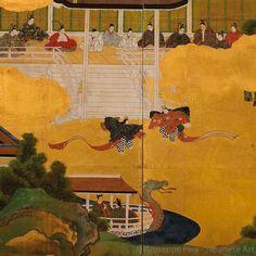 Genji Monogatari Tosa Screens  from Tale of Genji