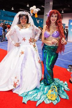 15 Amazingly Over-The-Top Female Cosplayers From Disney's Expo  #refinery29  http://www.refinery29.com/2015/08/92552/women-cosplay-costumes-d23-expo#slide-4  This Little Mermaid duo pulled out all the stops. ...