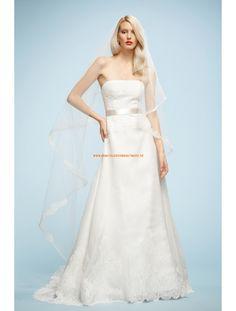 Watters A-linie Glamouröse Dramatische Brautkleider aus Softnetz mit Applikation
