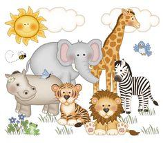 Safari Nursery Decor Decal Jungle Animal Wall Art Mural Stickers