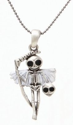 Reaperman Skelly Necklace [J262] - $13.99 : Mystic Crypt, the most unique, hard to find items at ghoulishly great prices!