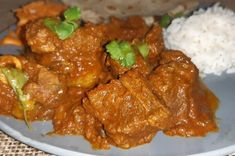 Durban Lamb Curry Spicy Recipes, Curry Recipes, Baked Chicken, Tandoori Chicken, South African Recipes, Ethnic Recipes, Masala Spice, Lamb Ribs, Curry Noodles