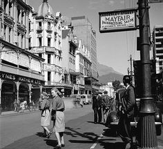 South Africa. Adderley Street, Cape Town, 1955