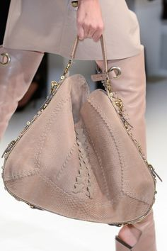 Salvatore Ferragamo Spring 2013: Love this bag. Nude is the new black. Goes with everything.