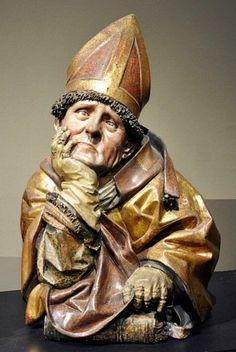 Agostino vescovo e Dottore della Chiesa ( 1489-1496 ), realizzata da Hans Bilger a Worms.
