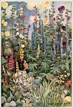 Art by Jessie Willcox Smith (1905) from A CHILD'S GARDEN OF VERSES.