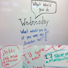 What Would You Do Wednesday-white board messages Journal Topics, Journal Prompts, Journals, Notebooks, Daily Writing Prompts, Teaching Writing, Teaching Themes, Writing Ideas, Leadership