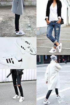 Trend // Adidas white superstar sneaker kids
