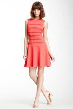 Partial Ribbed Flare Hem Dress by Julia Jordan on @HauteLook