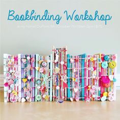 Come on over to my house for a fun day of BOOKBINDING! ♡ On Saturday October from I will show you step-by-step ever. Handmade Journals, Handmade Books, Handmade Crafts, Handmade Rugs, Vintage Journals, Notebook Covers, Journal Covers, Journal Cards, Junk Journal