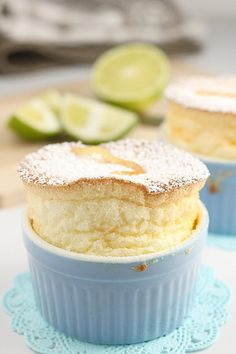 Lemon, lime & orange souffle - I have always wanted to make a souffle! This sounds like a yummy one to start with. Lemon Desserts, Lemon Recipes, Just Desserts, Delicious Desserts, Dessert Recipes, Yummy Food, Mousse, Souffle Recipes, Eat Dessert First
