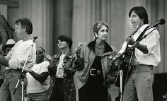 from the sfchron photo morgue: bay area music legends boz scaggs and joan baez with jackson browne.