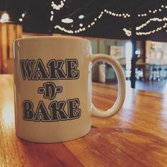 Coming to our Wake-n-Bake Off this weekend? Grab your ticket today and snag yourself one of those sweet mugs! #wakenbakeoff #coffeemug #wakenbake #stout #My_Athens #athensga